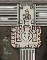 Train Station Floor Plan by Arctic Research Station 971 1317 Shadowrun Floorplan