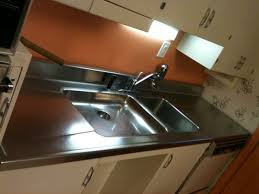 stainless steel countertop with built in sink 14 rare vintage kitchen sinks spotted in 6 years of blogging retro