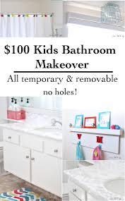 Kids Bathroom Makeover - 100 kids rental bathroom makeover the reveal anika u0027s diy life