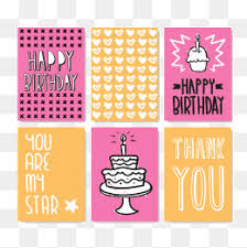 hand drawn birthday card multi layer birthday cake pink birthday