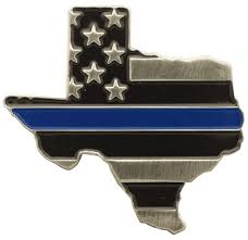 Texas State Flag Image State Thin Blue Line And Usa Flag Pin