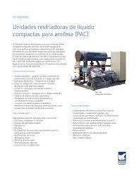 unidades resfriadoras de líquido compactas para amônia pac