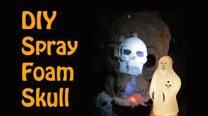 diy spray foam halloween skull with great stuff youtube