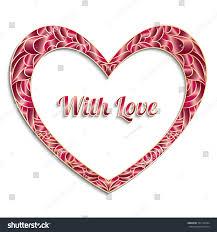 red gradient decorative happy valentines day stock vector