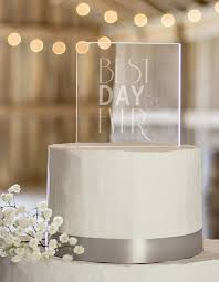 best cake toppers best day acrylic square cake topper chic stylish weddings