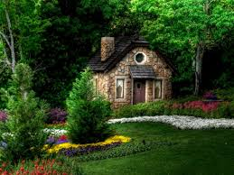 exterior design small fairytale cottages with fresh small garden