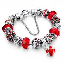 glass beads bracelet images 925 silver crystal charm bracelets for women with purple murano jpg