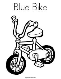 blue bike coloring page twisty noodle