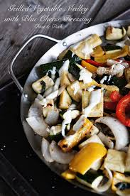 recipe grilled vegetable medley with blue cheese dressing dine