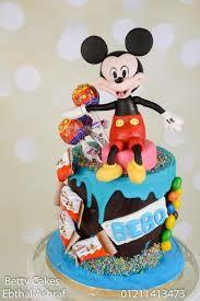 mickey mouse candy drip cake cake by bettycakesebthal cakesdecor
