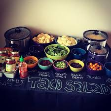 make your own buffet table taco salad bar idea chalkboard paint a 4 x8 sheet of plywood and