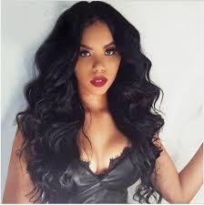 long black hair with part in the middle 150 density indian remy hair 360 lace wigs body wave wowebony com
