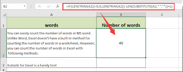 Count Number Of Words In Excel How To Count The Number Of Words In A Cell Or A Range Cells In Excel