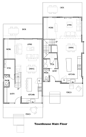 townhouse main floor plan interior comfortable townhouse main