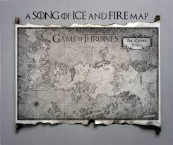 Ice And Fire Map Essos Map And Westeros Map Game Of Thrones The Known World Map