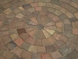 circular brick patio designs with outstanding circle brick patio