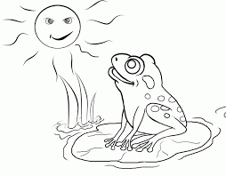 get this easy preschool printable of frog coloring pages r38yz
