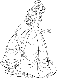 belle coloring colouring pages inspirational princess color