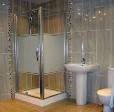 modern black glasses door design to bathroom that can be decor