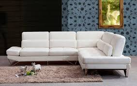 White Leather Sofa Sectional Modern White Leather Sectional Sofa Vg833 Leather Sectionals