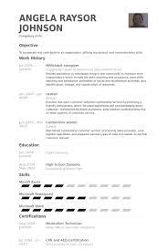 Caregiver Description For Resume Disabled Caregiver Resume