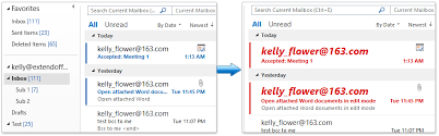 afficher outlook sur le bureau comment mettre en évidence les messages électroniques non lus