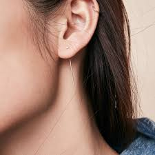 threader earrings madewell x still house 14k gold lona diamond threader earring