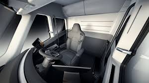 electric truck tesla truck an look inside the new electric semi fortune