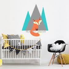 stickers d oration chambre b renard montagne stickers muraux vinyle sticker pour enfants bébé