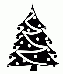black and white christmas tree clip art u2013 101 clip art