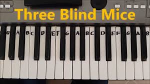 Are Mice Blind How To Play Three Blind Mice Easy Piano Keyboard Tutorial Youtube