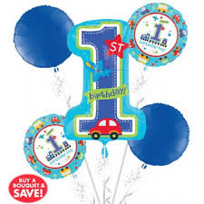 1st birthday balloon delivery 1st birthday balloon bouquet 5pc all aboard from category