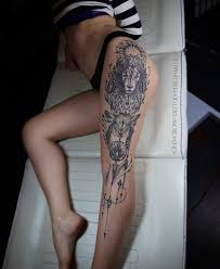 30 gorgeous thigh tattoos to get inked on your beautiful legs