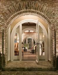 Brick Stairs Design Door Arch Design Entry Traditional With Dark Wood Floor Brick