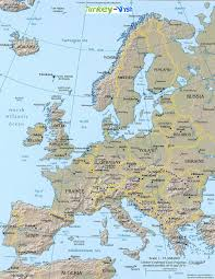 Blank Physical Map Of Europe by Europe Political Blank Map