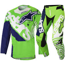 motocross gear for kids alpinestars new mx 2018 racer venom green navy kids motocross dirt