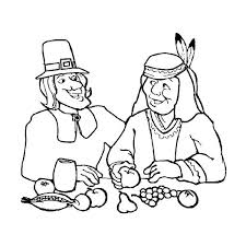 canada thanksgiving day dinner with american coloring page