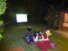 Backyard Movie Night Projector Projector And Screen Hire