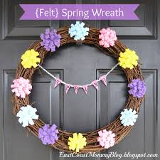 east coast mommy easy spring wreath