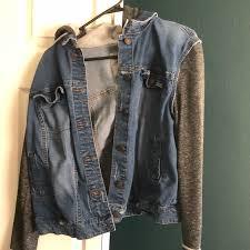 jean sweater jacket 48 mossimo supply co jackets blazers jean sweater jacket