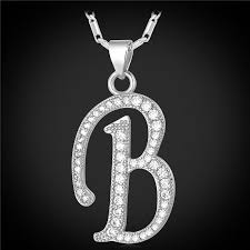 necklace pendants letters images Customized alphabet b letter pendant charm 18k gold plated for jpg