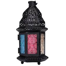online buy wholesale moroccan decor from china moroccan decor 1pcs retro gifts decor moroccan style matte black cast iron handmade glass magic rainbow candle holder