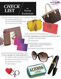 a checklist for your purse effie u0027s paper