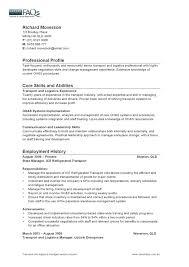 logistics manager sample resume logistics manager cv template