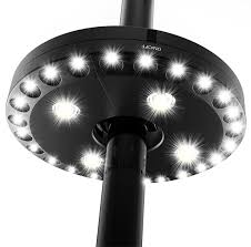 Battery Powered Patio Lights Qpau Patio Umbrella Light 3 Lighting Modes Cordless 28 Led Lights
