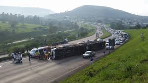 car carrier truck car carrier truck overturns on n3 highway mail