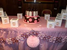 pink and brown baby shower pink and brown baby shower ideas cake table details beautiful