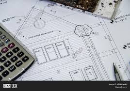 new house construction plans small guest cottage plans 2d elevation of a new house plan with pencil 2ds of a new 170093855 stock photo 2d elevation of a new house plan with pencil 2c 2ds of a new exterior house