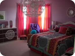 attractive colorful bohemian themed bedroom enlightened by