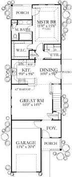 narrow homes floor plans bungalow country house plans home design 136 1003